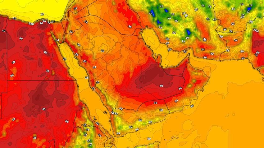 اليمن | استمرار نشاط السُحب الرعدية على المرتفعات الجبلية وسواحل بحر العرب الإثنين