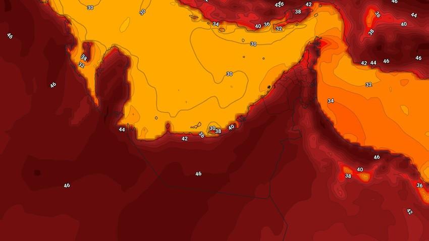 الإمارات | طقس لاهب ودرجات الحرارة تتجاوز مُنتصف الأربعين مئوية الإثنين