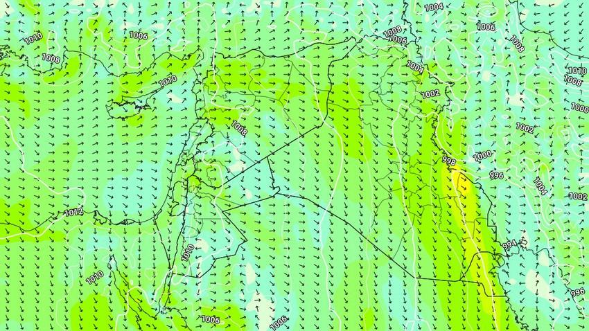 العراق | انخفاض على درجات الحرارة في المناطق الغربية الثلاثاء وتراجع على سرعة الرياح الشمالية الغربية