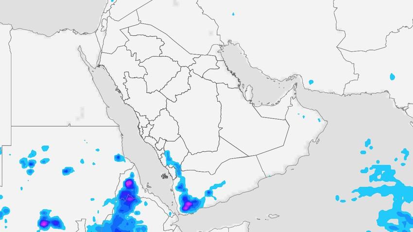 اليمن | تنبيه من تشكل السيول وجريان الاودية على اجزاء من المرتفعات الغربية الثلاثاء