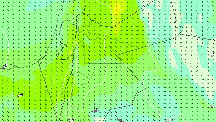 الأربعاء | طقس معتدل فوق المرتفعات الجبلية وصيفي عادي في بقية المناطق مع نشاط الرياح الشمالية الغربية