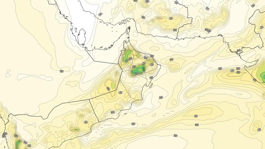 عمان | زخات رعدية غزيرة من المطر خلال النصف الثاني من الأسبوع