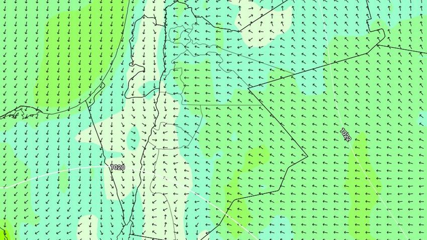 الأردن | نشاط في الرياح الشرقية خلال النصف الأول من الأسبوع وفرصة لبعض الأمطار نهايته