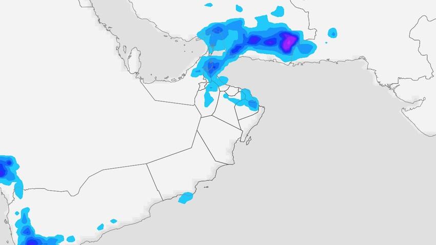 Oman | Des orages de nature aléatoire affectent le pays mardi et se concentrent dans les montagnes Hajar