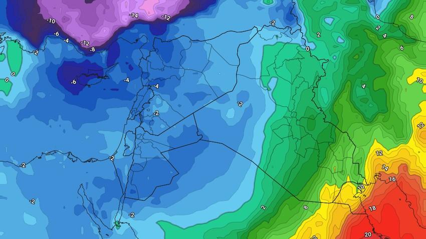 الأربعاء | امطار غزيرة في بعض المناطق نهاراً وثلوج كثيفة فوق المُرتفعات الجبلية العالية