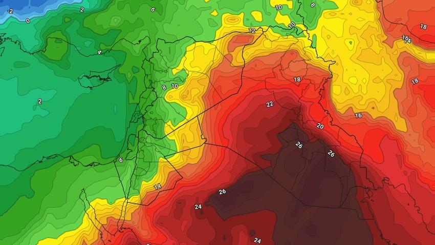 الأردن | تنبيه من الفوارق الحرارية الهائلة مابين نهار وليل الثلاثاء والتي قد تفوق الـ 20 درجة في بعض المناطق