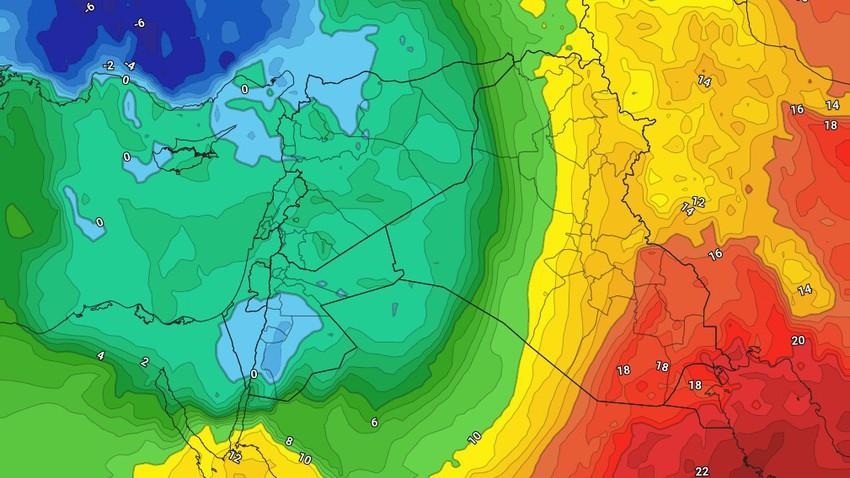 السبت | كتلة هوائية شديدة البرودة ذات اصول قطبية تدفع برياحها الباردة نحو المملكة . تفاصيل