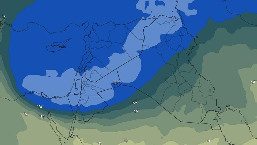 الأردن   أحوال جوية غير مستقرة تؤثر على المملكة خلال عطلة نهاية الأسبوع تجلب الانخفاض على درجات الحرارة وزخات متفرقة من الأمطار