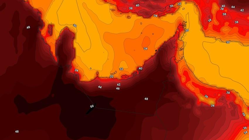 الإمارات | ارتفاع على درجات الحرارة وطقس لاهب في بعض المناطق الإثنين وضباب كثيف في هذه المناطق ليلاً