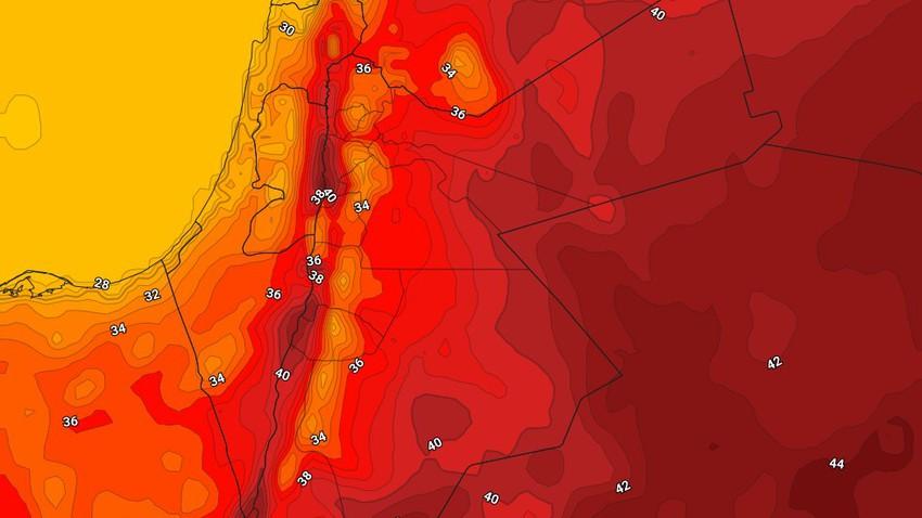 الأردن   في أول أيام الموجة الحارة طقس حار ومُزعج فوق عموم مناطق المملكة الأربعاء