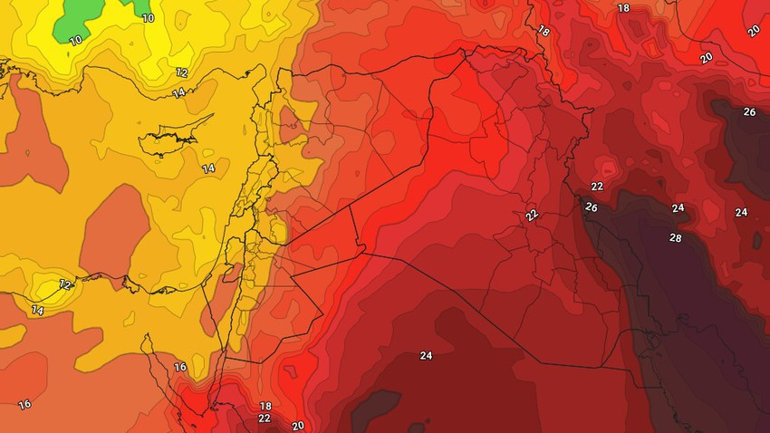 Jordan | Temperatures drop on Thursday and Friday, warning of an increased chance of catching a cold as a result of the temperature differences between day and night