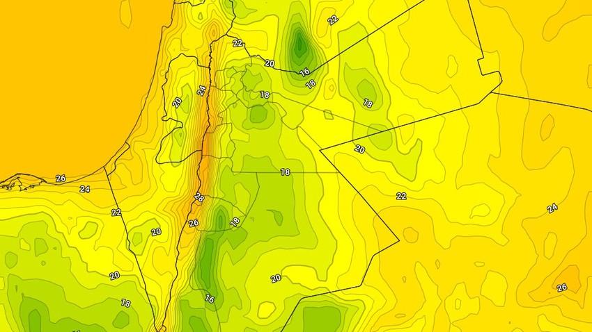 الأردن   ليالي مائلة للبرودة وضبابية فوق قمم المرتفعات الجبلية العالية خلال نهاية الأسبوع