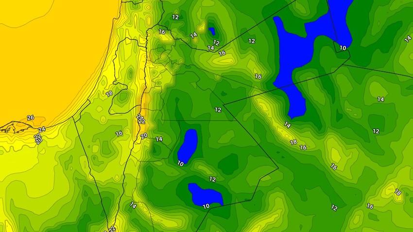 الأردن | ليالي أقل حرارة وأكثر برودة من المعتاد بقية أيام الأسبوع