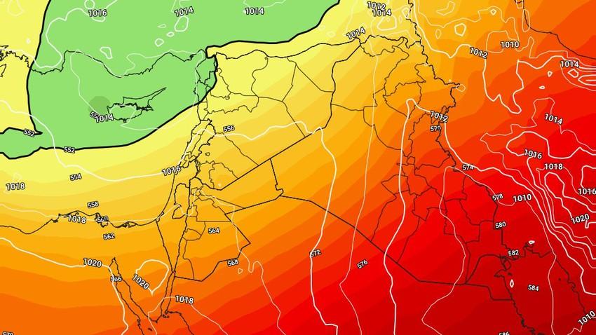 الأردن | انخفاض اضافي على الحرارة الخميس ومُنخفض جوي يؤثر على المملكة الجمعة