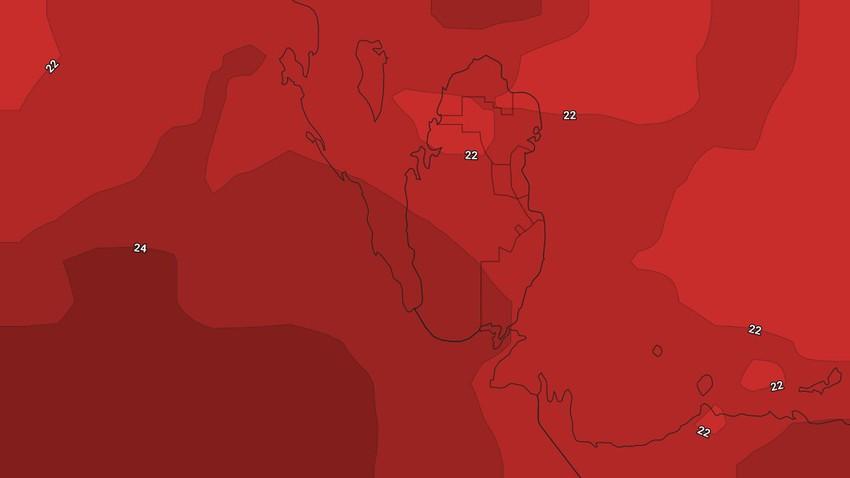 النشرة الأسبوعية للبحرين | طقس حار نسبياً طيلة أيام الأسبوع وفرصة ضعيفة لهطول زخات محلية من الأمطار في القسم الأول