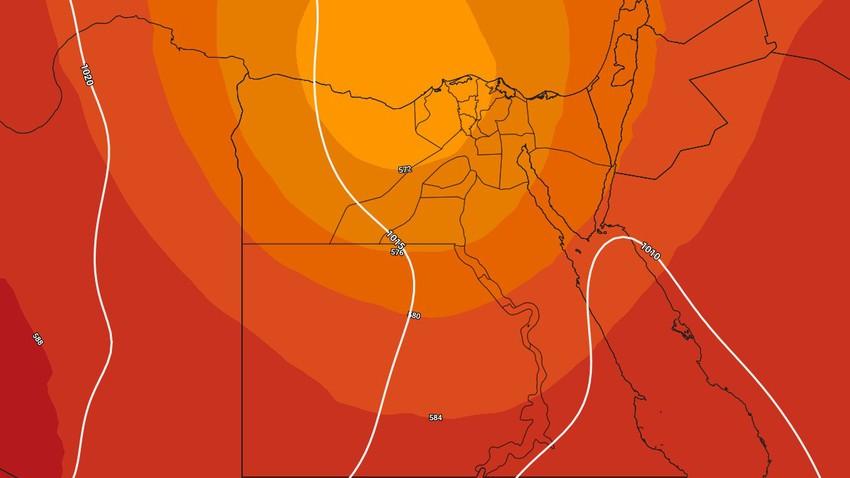مصر-نهاية الأسبوع   انخفاض على درجات الحرارة مع تزايد تأثير حالة من عدم الاستقرار