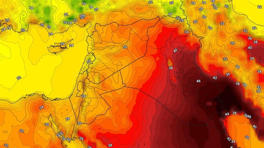 العراق | درجات الحرارة حول الـ 50 درجة مئوية في هذه المناطق نهاية الأسبوع