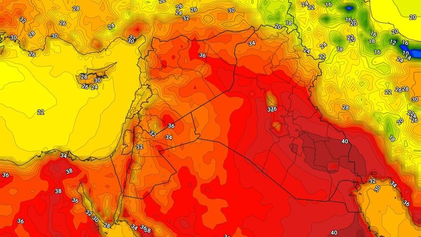 العراق | تراجع على الاحوال الجوية غير المُستقرة وعودة درجات الحرارة للارتفاع الاربعاء