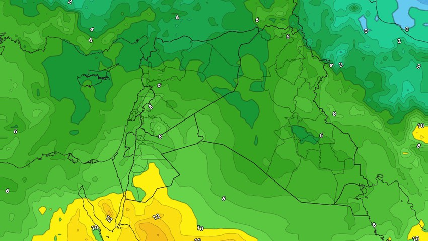 الأردن | فرصة لزخات خفيفة من المطر الجمعة و استقرار على الطقس السبت