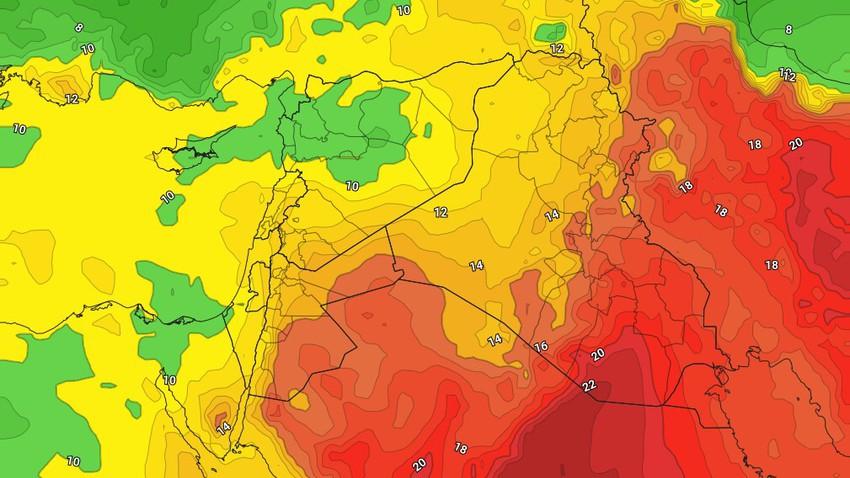 الأردن-بعد المنخفض الجوي | عودة ارتفاع على درجات الحرارة يومي الجمعة والسبت بالتزامن مع حالة من عدم الاستقرار