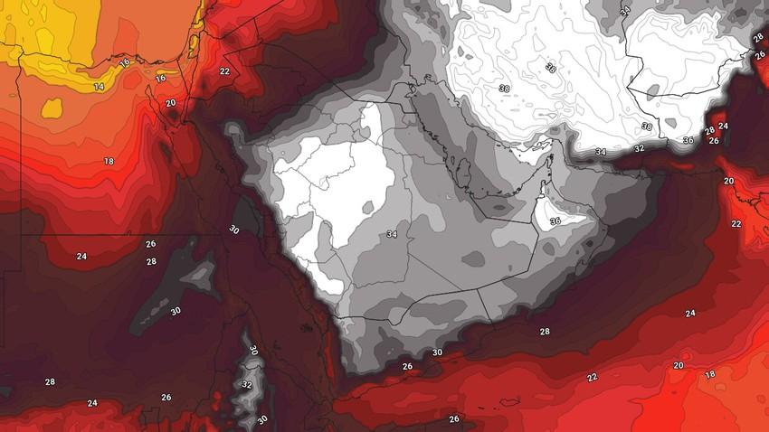 اليمن | درجات الحرارة تتجاوز الأربعين مئوية في بعض المناطق واستمرار الأمطار الموسمية على المرتفعات الغربية