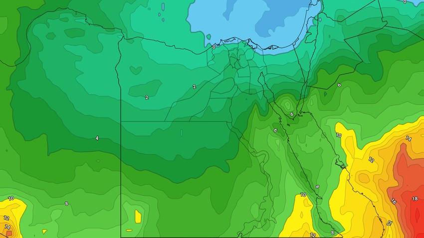 مصر - نهاية الأسبوع | استمرار الاجواء الباردة وبقاء الفرص مهيأة لسقوط الامطار في المناطق الشمالية