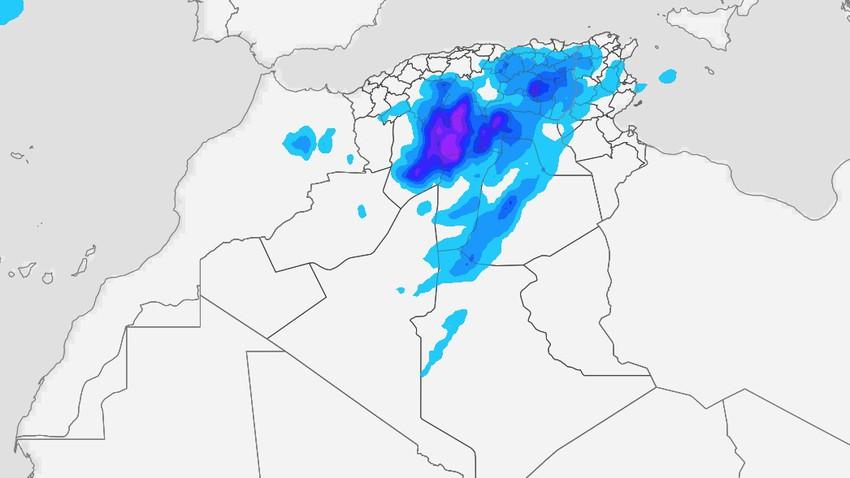 الجزائر   استمرار الاضطرابات الجوية التي تتسم بالشدة الأربعاء وتنبيه من سيول جارفة
