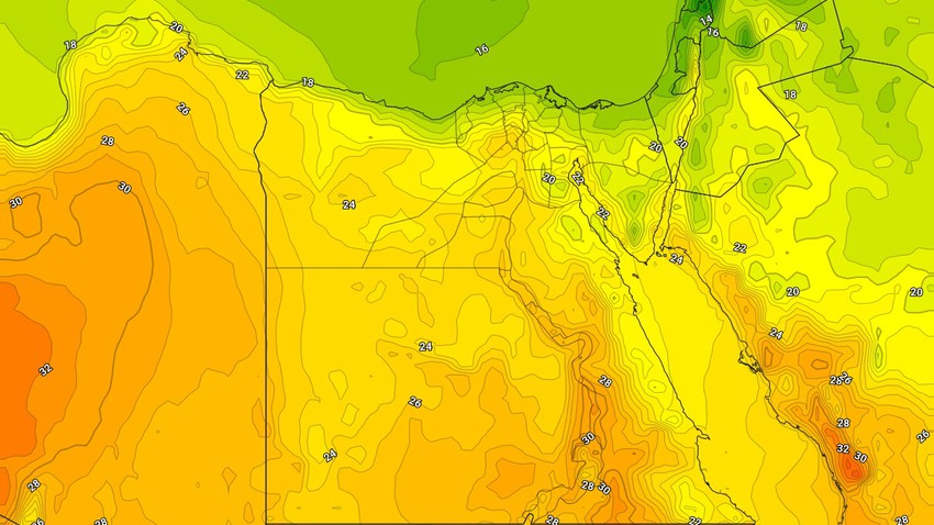 Egypt | A warm air mass affects the country during the weekend