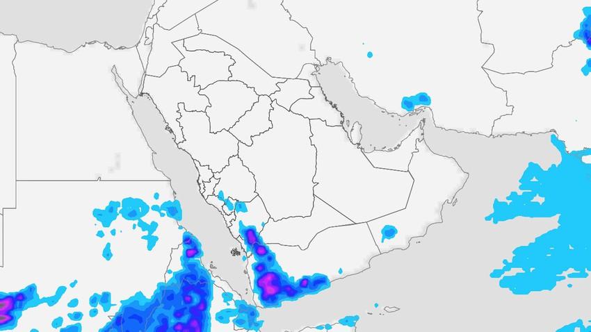 النشرة الأسبوعية لليمن | سُحب رعدية وأمطار غزيرة إلى شديدة الغزارة وتنبيه من سيول جارفة على بعض المناطق
