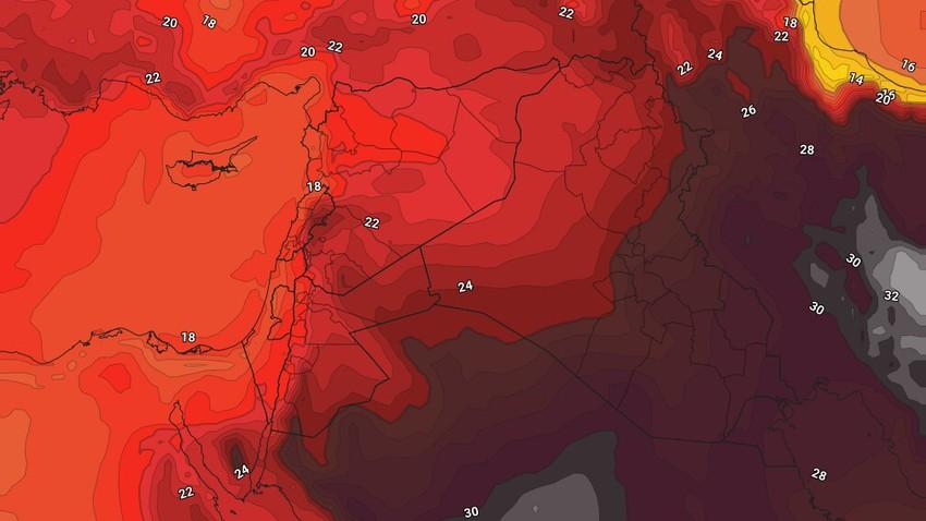 الأردن - نهاية الأسبوع | استمرار الطقس المُعتدل الجمعة وعودة درجات الحرارة للإرتفاع السبت