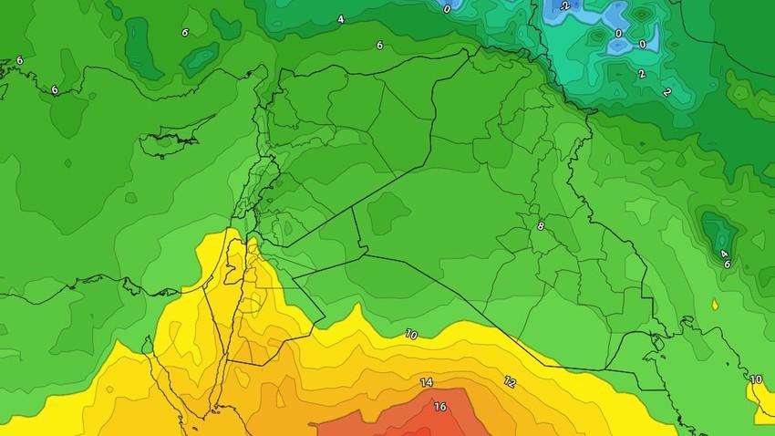 الأردن | ارتفاع على درجات الحرارة خلال نهاية الأسبوع مع بقاء الاجواء باردة خاصة في ساعات الليل