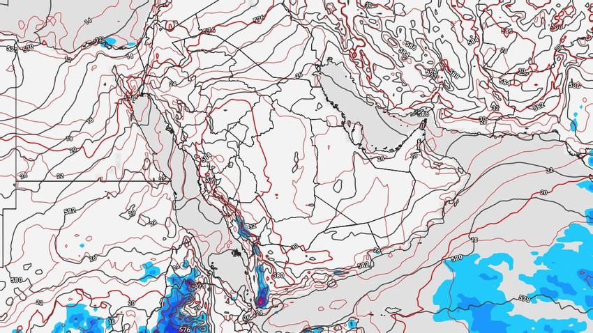 اليمن | زخات رعدية من الأمطار على المرتفعات الجبلية مع نشاط للرياح المُثيرة للأتربة والغُبار نهاية الأسبوع