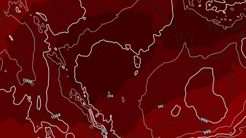 النشرة الأسبوعية لليمن   طقس حار في بعض المناطق وتحسن فرص هطول الأمطار الرعدية على المرتفعات الجبلية