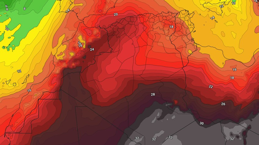 Tunisia | High temperatures on Friday and Saturday and the opportunity for showers of rain in these areas