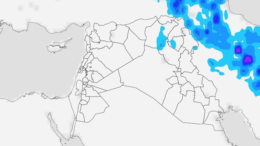 العراق | ارتفاع إضافي على درجات الحرارة الخميس وتراجع في فرص الأمطار مع بقائها مُتاحة في بعض المناطق
