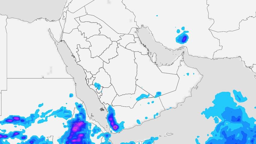 النشرة الأسبوعية لليمن | اتساع نطاق تأثير السُحب الرعدية وتنبيه من السيول على بعض المناطق