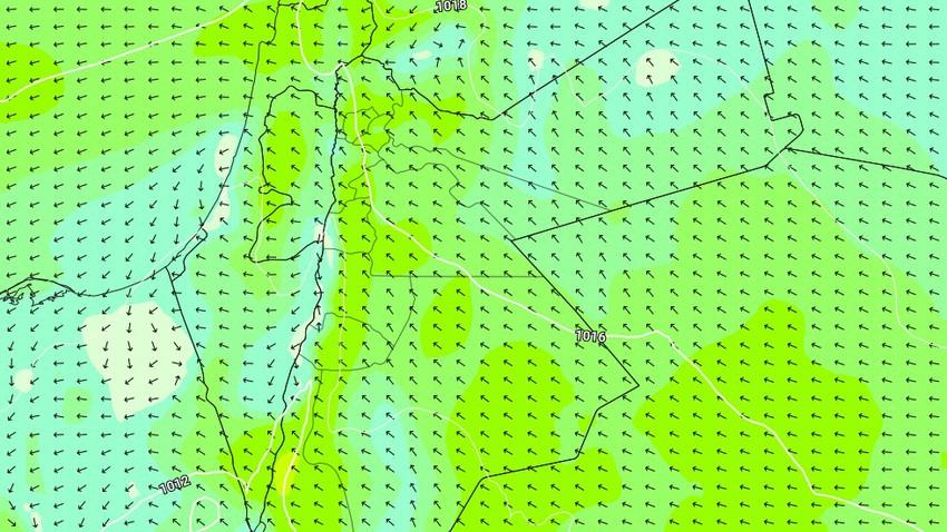 الأردن   من الأحد حتى الخميس تجدد هبوب الرياح الشرقية النشطة على بعض المناطق
