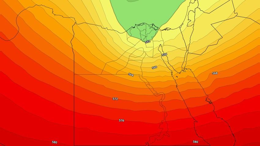 مصر   مؤشرات على مُنخفض يؤثر على البلاد إعتباراً من الاربعاء