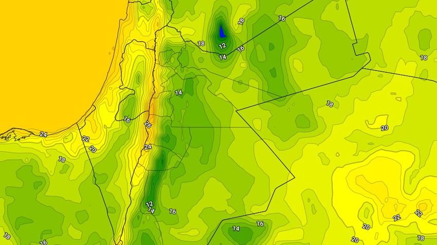 الأردن   ليالي اكثر برودة من المُعتاد وتنبيه من تدني مدى الرؤية الأفقية جراء الضباب في الجبال والسهول الشرقية