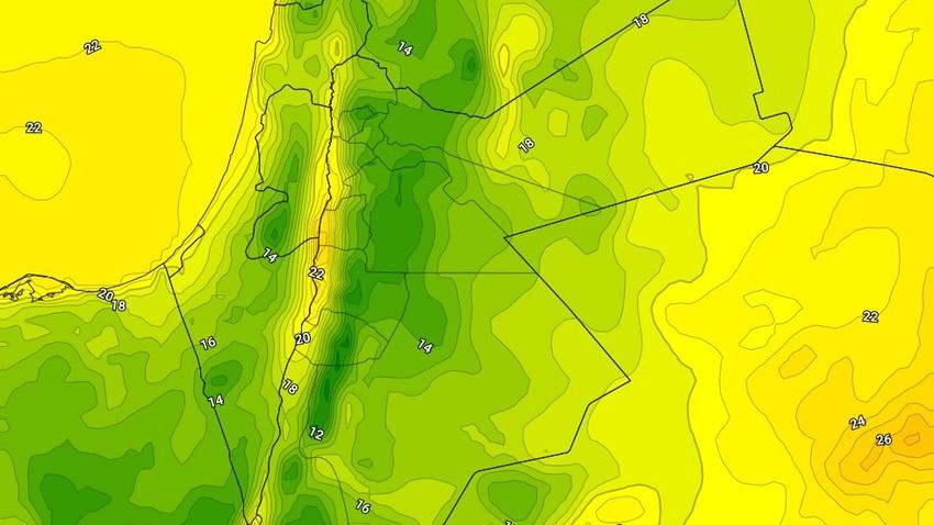 الأردن | ليالي مُنعشة ومائلة للبرودة مع ارتفاع لافت على نسب الرطوبة