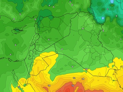 الأردن | فرص هطول الأمطار مرتفعة خلال ماتبقى من الأسبوع الحالي