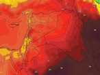 الأردن | كتلة هوائية مُعتدلة الحرارة ورطبة الخصائص تؤثر على المملكة وانخفاض على درجات الحرارة إعتباراً من الإثنين