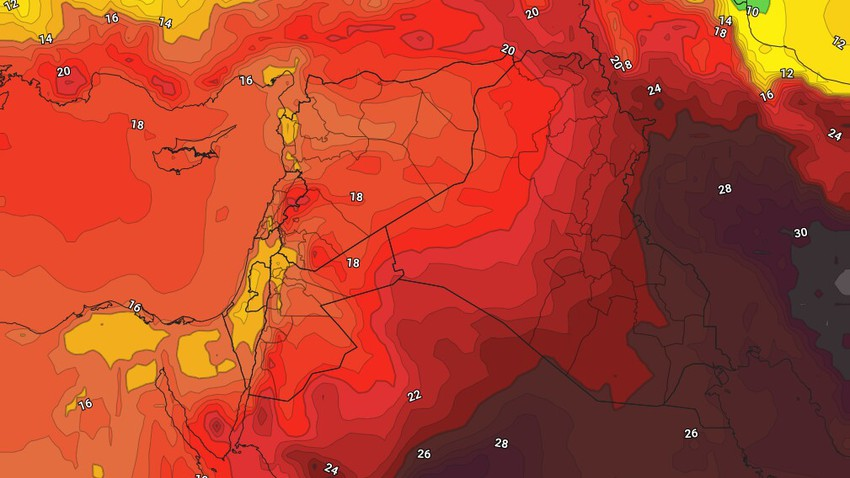 Jordan | A moderately hot and humid air mass affects the Kingdom and a decrease in temperatures starting from Monday