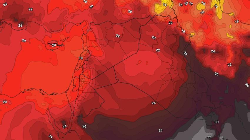 النشرة الأسبوعية للكويت | طقس شديد الحرارة واحوال جوية غير مُستقرة ببعض المناطق خاصة مُنتصف الأسبوع