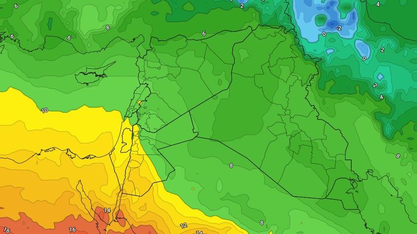 الأردن | استمرار الأجواء المُستقرة ولا مؤشرات على هطول الأمطار خلال الأسبوع الحالي