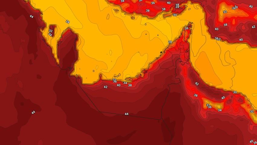 الإمارات | حالة الطقس المُتوقعه في الدولة يوم السبت 15/5/2021