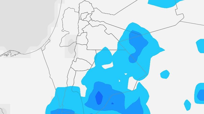 الأردن | حالة من عدم الاستقرار الجوي إعتباراً من عصر الأحد وفرصة لزخات رعدية عشوائية من الأمطار تتركز في مناطق البادية