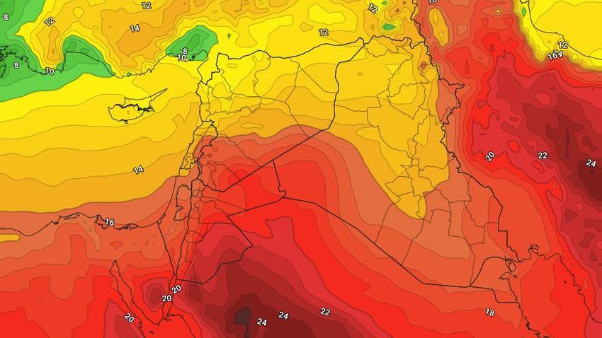 الأردن | رحيل الكتلة الهوائية شديدة البرودة وارتفاعات مُتصاعدة على الحرارة تبدأ من الثلاثاء