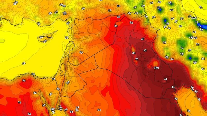 العراق   استمرار الأجواء شديدة الحرارة ودرجات حرارة أربعينية في العاصمة بغداد الجمعة