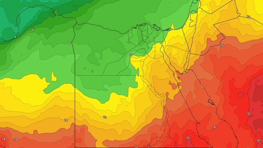 مصر | طقس مُستقر ودافئ خلال الايام المقبلة ومؤشرات على حدوث تقلبات جوية مُنتصف الاسبوع القادم